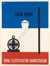 LESTER BEALL (1903-1969). FARM WORK / RURAL ELECTRIFICATION ADMINISTRATION. 1937. 39x30 inches, 101x77 cm.