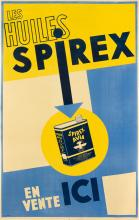 ALFRED TOLMER (1876-1957). LES HUILES SPIREX. 1938. 38x24 inches, 98x63 cm.