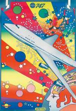 PETER MAX (1937- ). PAN AM 747. 1969. 41x28 inches, 105x72 cm.