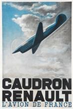 H. CHAUFFARD (DATES UNKNOWN). CAUDRON RENAULT. 1936. 47x31 inches, 119x80 cm. Imprimerie Speciale des Usines Renault, France.