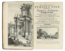 ARCHITECTURE.  POZZO, ANDREA. Rules and Examples of Perspective Proper for Painters and Architects.