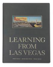 ARCHITECTURE.  VENTURI, ROBERT; Brown, Denise Scott; and Izenour, Steven. Learning from Las Vegas.