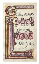 GOUDY, FREDERIC. Ecclesiastes or the Preacher. Illuminated manuscript.