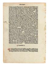 LEAF BOOKS. An Original Leaf from the Polychronicon printed by William Caxton at Westminster in the Year 1482.