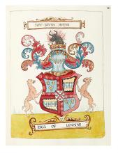 MANUSCRIPT BOOK / HERALDRY. Forman, Robert. Scottish Armorial Attributed to Sir Robert Forman of Luthrie.