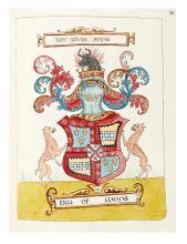 MANUSCRIPT BOOK / HERALDRY. Forman, Robert. Scottish Armorial Attributed to Sir Robert Forman of Luthrie.