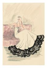 COSTUME / FASHION. Teed. Group of 31 drawings by Teed of 1940s American fashion designs.