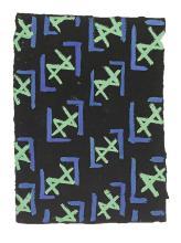 DELAUNAY, SONIA. Original textile design.