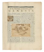 TISSOT, JAMES. Publisher's layout of the Old Testament portion of