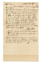 (AMERICAN REVOLUTION--PRELUDE.) Hewes, Josiah. Letter instructing his fellow merchants to resist the Tea Act.