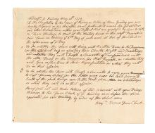 (AMERICAN REVOLUTION--PRELUDE.) Call for a town meeting to decide on a Committee of Correspondence.