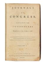 (AMERICAN REVOLUTION--1775.) Journals of Congress, Containing the Proceedings from Sept. 5, 1774 to Jan. 1, 1776.