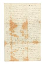 (AMERICAN REVOLUTION--1775.) Grant, Alexander. Letter from a British corporal in occupied Boston.