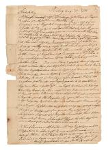 (AMERICAN REVOLUTION--1775.) Bradford, Anthony. Letter from a Connecticut soldier at the Siege of Boston.