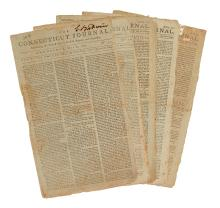 (AMERICAN REVOLUTION--1777.) Five issues of the Connecticut Journal.