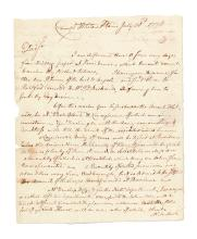 (AMERICAN REVOLUTION--1778.) Gray, Samuel. Letter warning a commissary officer of the imminent arrival of thousands of hungry troops.