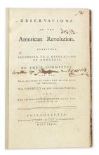 (AMERICAN REVOLUTION--1779.) [Morris, Gouverneur.] Observations on the American Revolution.