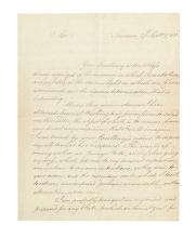 (AMERICAN REVOLUTION--1780.) Andre, John. Contemporary copy of the British spy's final letter from an American prison.