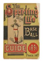 (BASEBALL.) Group of 47 early guides and instructional manuals.