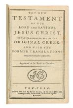 (BIBLE IN ENGLISH.) The New Testament of our Lord and Saviour Jesus Christ.