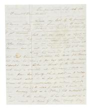 (CALIFORNIA.) Todd, Charles H. Letter describing the business dealings of Gold Rush millionaire Sam Brannan.