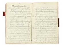 (CIVIL WAR.) Pair of notebooks tracking graves on Civil War battlefields.