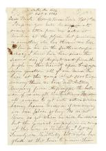 (CIVIL WAR--CONFEDERATE.) Bills, Lafayette. Letter from a newly enlisted Kentucky soldier.