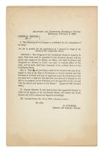 (CIVIL WAR--CONFEDERATE.) General Orders No. 3 . . . An Act to Provide for the Appointment of a General in Chief.