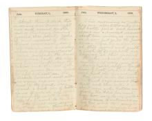 (CIVIL WAR--MAINE.) Hall, George L. Diary of a regimental band member at Malvern Hill and Second Bull Run.