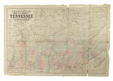 (CIVIL WAR--MAP.) Lloyd's Official Map of the State of Tennessee.