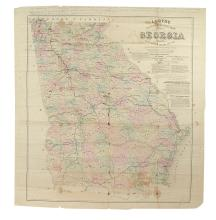 (CIVIL WAR--MAP.) Lloyd's Topographical Map of Georgia.