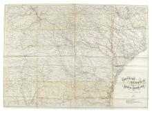 (CIVIL WAR--MAP.) Krebs, Charles G., engraver; after A. Lindenkohl. Southern Georgia and Part of South Carolina.
