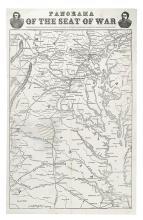 (CIVIL WAR--MAP.) Panorama of the Seat of War.
