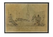 (CIVIL WAR--PENNSYLVANIA.) [Long, Daniel.] Officer's Tent, Co. A, 145th Regt. P.V.