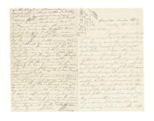 (CIVIL WAR--PENNSYLVANIA.) Winans, Jacob S. Letter describing the Battle of Bristoe Station.