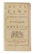 (CONNECTICUT.) Acts and Laws of His Majesty's English Colony of Connecticut.