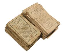 (CONNECTICUT.) Long run of 59 Connecticut almanacs.