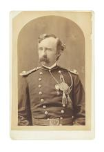 (CUSTER, GEORGE ARMSTRONG.) [Howell, William R.; photographer.] Cabinet card of Custer from his last known portrait sitting.