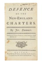 (EARLY AMERICAN IMPRINT.) Dummer, Jeremiah. A Defence of the New-England Charters.
