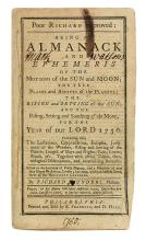 (EARLY AMERICAN IMPRINT.) [Franklin, Benjamin.] Poor Richard Improved: Being an Almanack . . . for the Year of our Lord 1750.