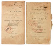 (LAW.) Large group of early Congressional journals and acts.