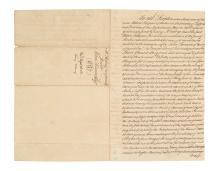 (MASSACHUSETTS.) Pierpont, Robert and Ann. Long Wharf deed issued to John Hancock before the Revolution.