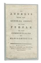 (MASSACHUSETTS.) An Address from the General Court, to the People of the Commonwealth of Massachusetts.