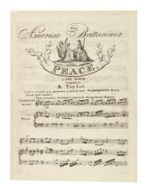 (MUSIC.) Taylor, Raynor. America and Brittannia: Peace, a New March.