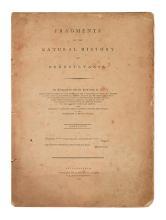 (NATURAL HISTORY.) Barton, Benjamin Smith. Fragments of the Natural History of Pennsylvania.
