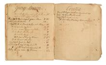 (NEW YORK.) Fragment of a ledger for Erie Canal construction laborers.