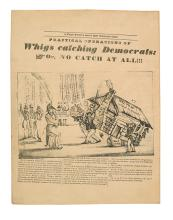 (PRESIDENTS--1840 CAMPAIGN.) Practical Operations of Whigs Catching Democrats: or, No Catch at All!!!