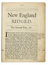(QUAKERS.) Bishop, George. New England Judged, the Second Part, being a Relation of the Cruel and Bloody Sufferings