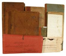 (VERMONT.) Large collection of Vermont manuscripts and ephemera.