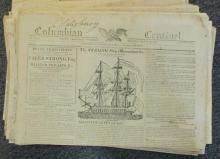 (WAR OF 1812.) Group of 55 newspapers relating to the war.